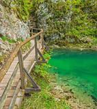 Vintgar gorge and wooden path, Bled, Slovenia