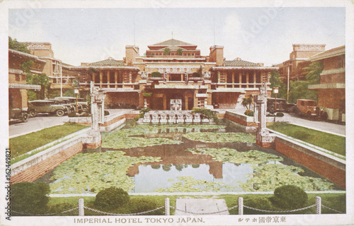 Poster Imperial Hotel  Tokyo. Date: circa 1922