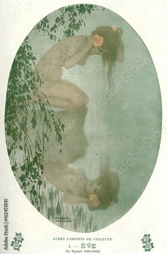 Poster Female Nude - Eve - 1912. Date: 1912