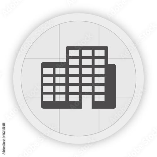 Icon Schaltfläche - Hochhäuser