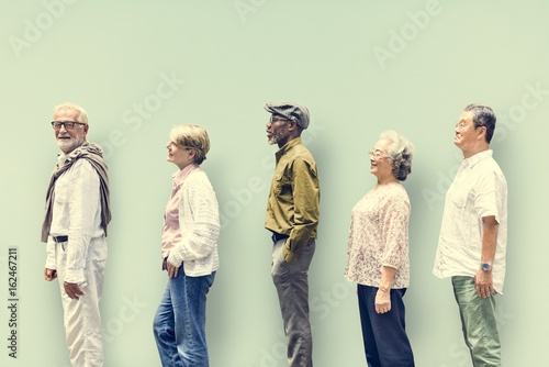 Diversity Senior People Friends Lifestyle Concept