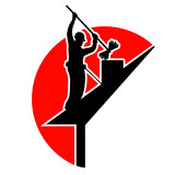 Ramonage Ramoneur Cheminée Logo Vecteur Wall Sticker