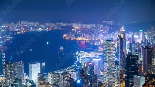 Foto op Canvas Canada The peak, Hong Kong, 28 May 2017 -: Landmark in Hong Kong at night