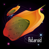 asteroids in the galaxy and astrology costellation vector illustration