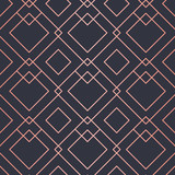 Geometric pattern consisting of lines. Trendy Copper Metallic look.
