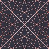 Geometric pattern consisting of lines. Trendy Copper Metallic look. - 162492032