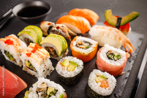 Japanese favorite food sushi maki Poster