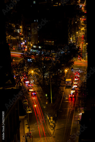 Foto op Aluminium Nacht snelweg West Village Intersection at Night