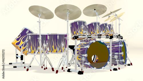 3d-rendering-tambores-de-llama-azul-vista-lateral-derecha