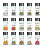 Spices, Pepper, Seeds And Condiment Set - 162524663