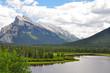 Scenic Moraine Lake in Alberta Canada