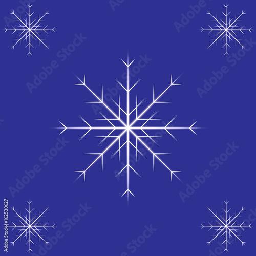 Deurstickers Violet Vector snowflakes.