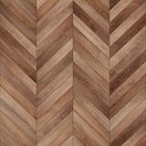 Seamless wood parquet texture (chevron brown) - 162537622