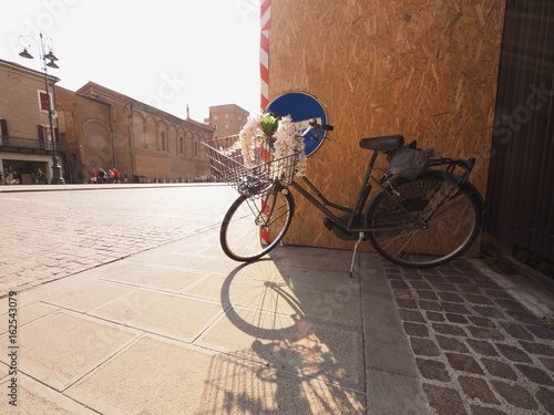 Bicycle in Trento and Trieste Square (Ferrara, Italy)
