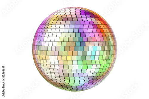 Naklejka Mirror disco ball, 3D rendering