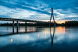 Sunrise on the Swietokrzyski bridge over the Vistula river in Warsaw, Poland - 162572086