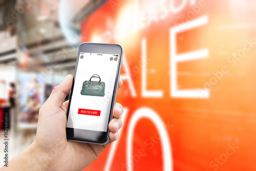 mobile phone with sign of sale