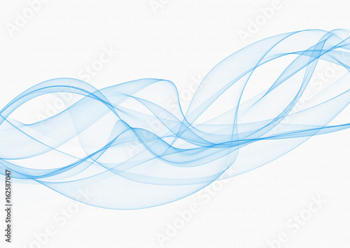 In de dag Abstract wave Turquoise smoke or fog isolated on white background