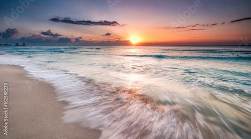 Beautiful sunrise in Cancun