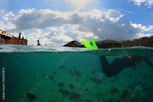 epave de bateau sur l'île de moreton - queensland - australie