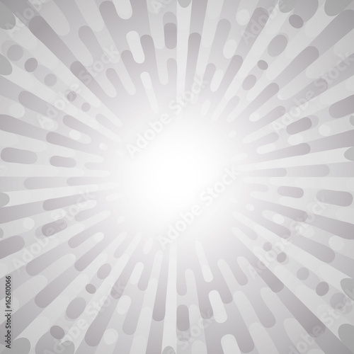 Aluminium Pop Art Abstract pop art retro background. Blank center. Exploding rays comic style. Grey color, easy to recolor blend. Vector illustration.