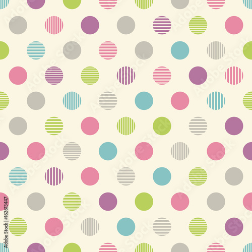 Seamless pattern circles. 円のパターン