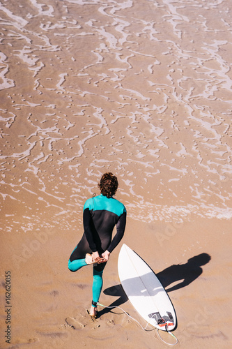 Surfer am Strand Poster