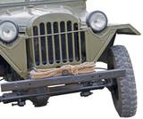 world war 2 era army jeep on white