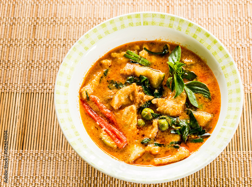 red curry with pork , Thai food