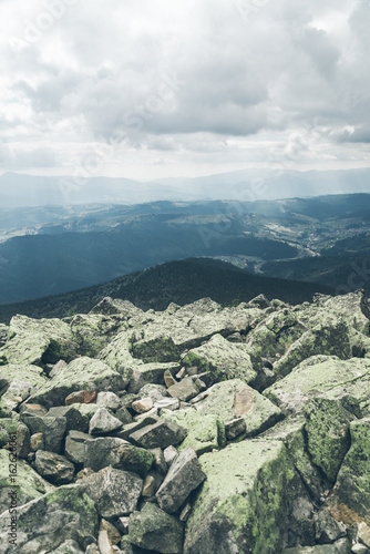 landscape in carpathain mountains