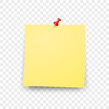 Post blank sticky note paper sheet vector  Reminder stick note  - 162638862