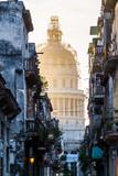Street leading too National Capitol in Havana, Cuba