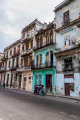HAVANA, CUBA - FEB 22, 2016: Life on a street in Old Havana.