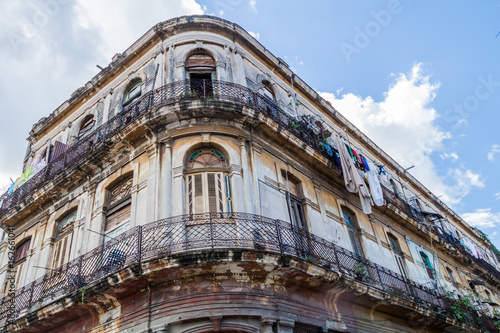 Dilipitated building in Old Havana, Cuba