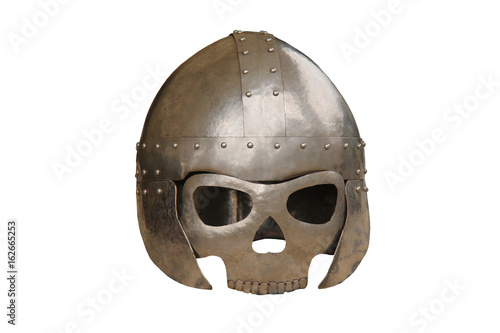 A Medieval Face Protection Metal Armour Mask. Poster