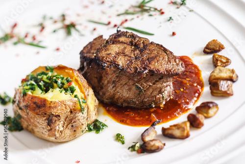 steak with roasted potato