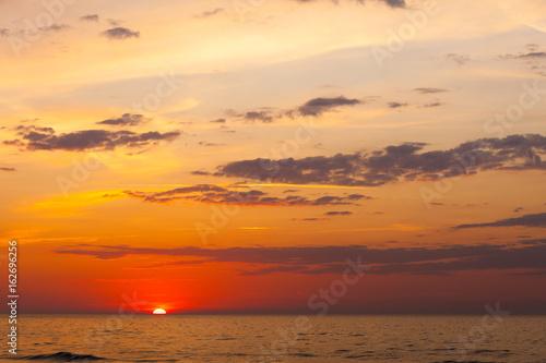Idyllic shot of sunset by the sea