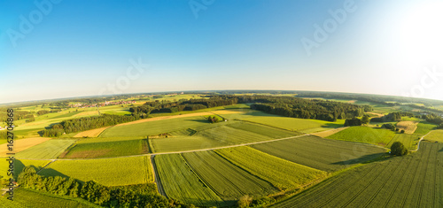 Fotobehang Honing Luftaufnahme von ländlicher Region