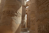 Ancient Egyptian Columns at Hypostyle Hall. Karnak Temple
