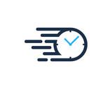 Speed Time Icon Logo Design Element - 162714454