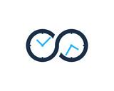 Infinity Time Icon Logo Design Element - 162714480