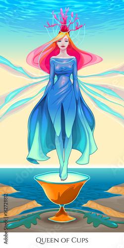 Queen of cups, tarot card