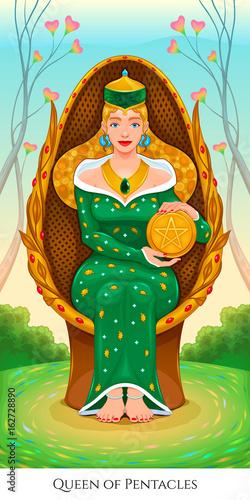 Queen of pentacles, tarot card