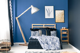 Bedroom in shades of blue - 162737092