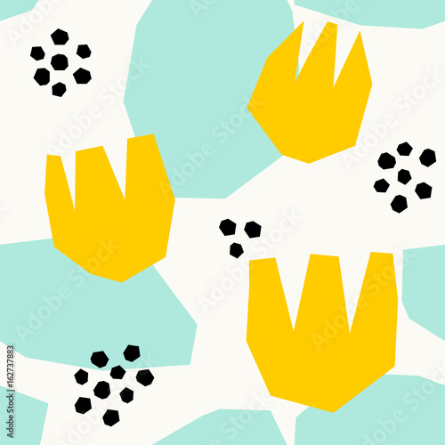 Abstract Floral Pattern - 162737883