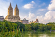 Central Park New York City looking towards the Upper West Side. - 162739679