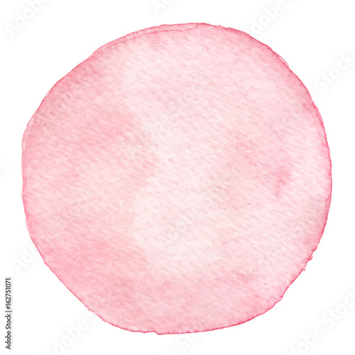 Vector hand painted watercolor pink round texture isolated on the white background. For your design. - 162751071