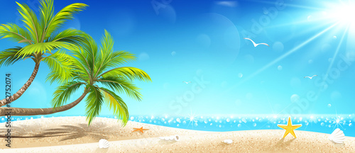 Tropical island. Vector - 162752074