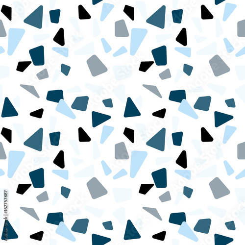 Modern vector seamless pattern with  abstract geometric shapes. - 162757687