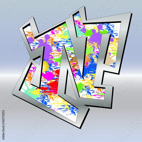 Buntgraffiti N
